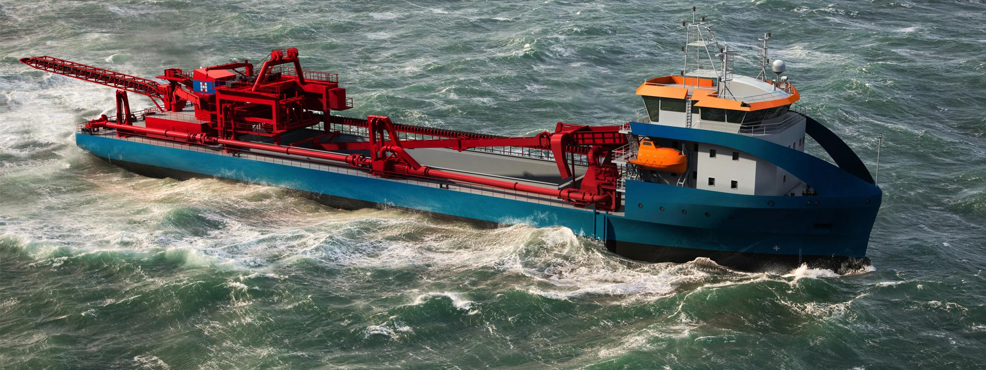 An artist's impression of the new dredger.