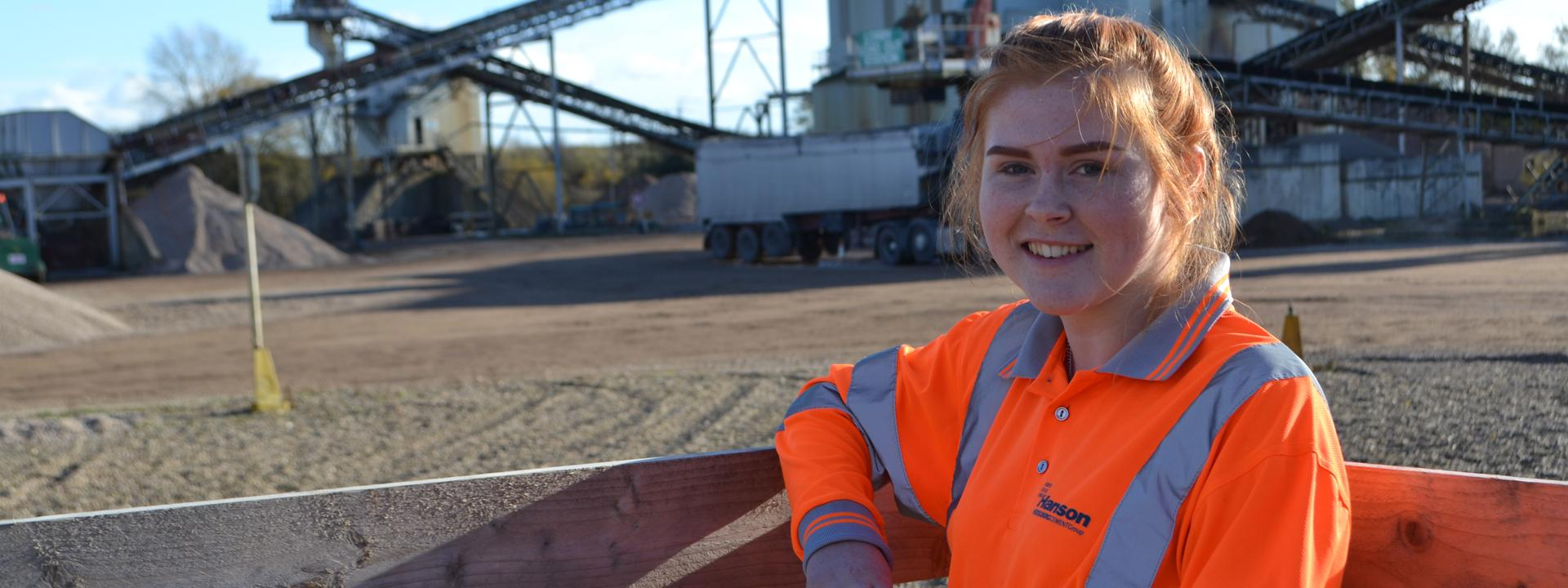 LEAD apprentice, Fiona Bradshaw at Shardlow quarry.