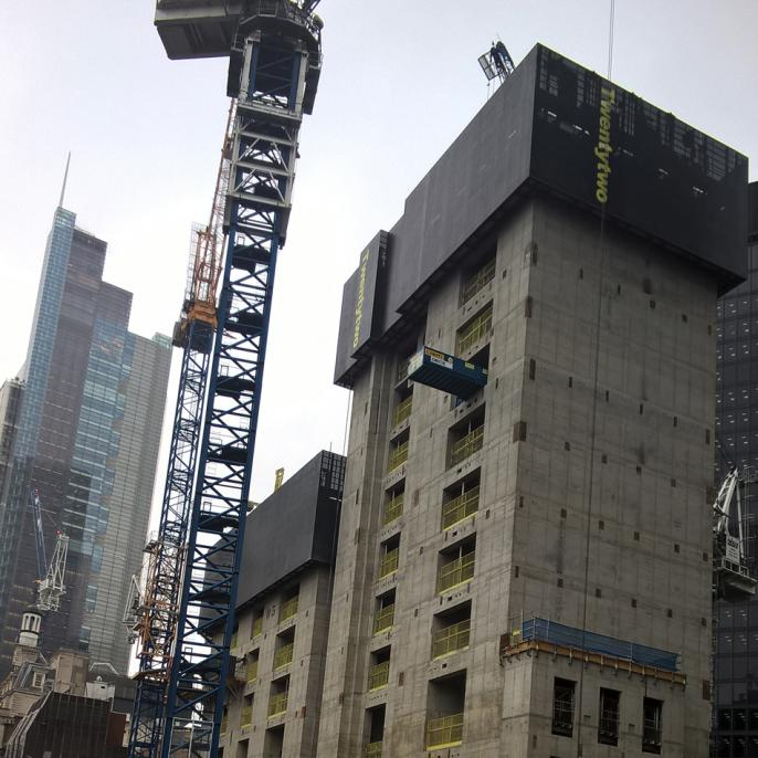 Bishopsgate construction site.