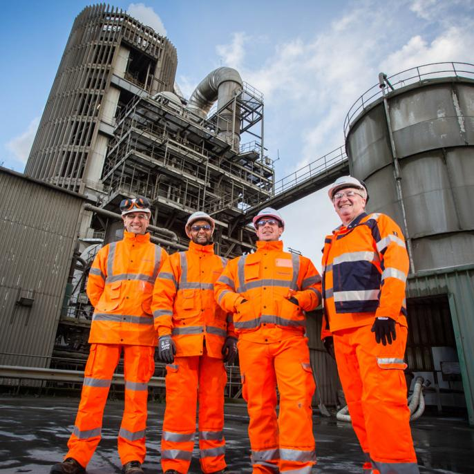 Ribblesdale cement plant upgrades.